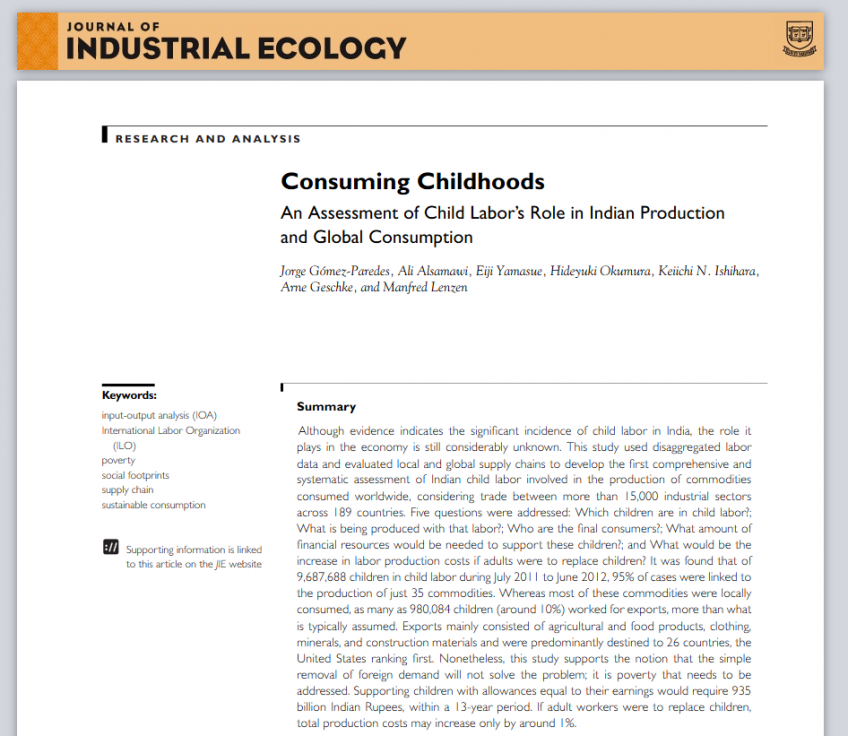 Original Article Publications of Gómez-Paredes, J. Ph.D in Journal of Industrial Ecology