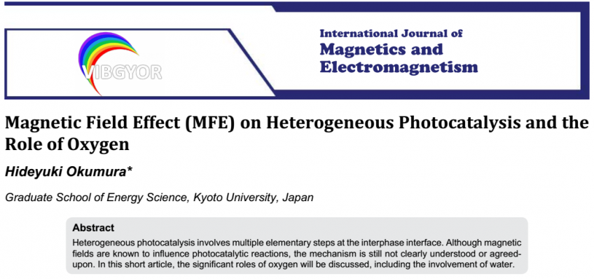 An Original Article Publication of Prof. Okumura on the International Journal of Magnetics and Electromagnetism
