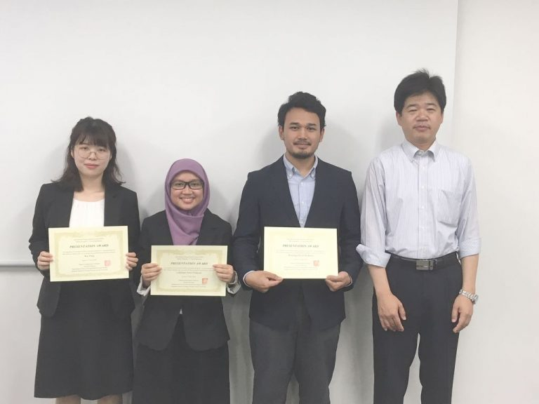 Excellent presentation award for Bintang Dwita Widhana from our group in research presentation of 1st year IESC masters student (June,2018)
